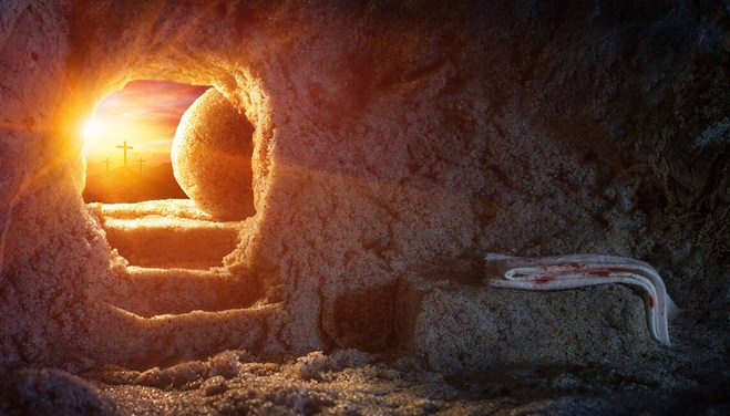 The Stone Had Been Rolled Away! The Tomb Was Empty! Jesus Has Risen!
